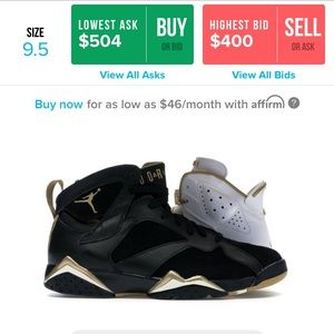 Jordan 6/7 Retro GMP SZ 9.5 Golden Moment Pack